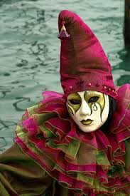 The Mask Costume Art Deco Circus Clown Carnivale Wanderlust Nomad