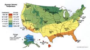 Atlanta Map Usa by January Temperature Of Usa