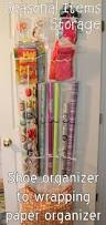 Organize Gift Wrap - 150 dollar store organizing ideas and projects for the entire home