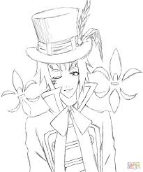 edward midford from kuroshitsuji coloring page within black butler