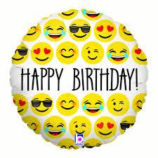 Halloween Birthday Balloons by Emoji Birthday 18 U0026 34 Balloon Party Supplies Walmart Com