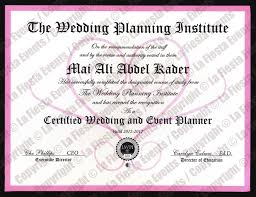 wedding planner certification course about the designer la events