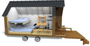 micro house design the mobile wooden hut micro cabin design for cgrounds tiny