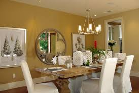antique mirror design for dining room with yellow wall paint color