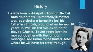 charlie chaplin charles spencer chaplin was born in london