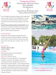 blackburn to host swimming clinic on april 15 bernews bernews