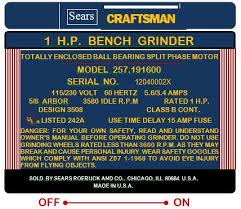 Dayton Bench Grinder Manual Craftsman Block Motor Bench Grinders What U0027s The Fuss With