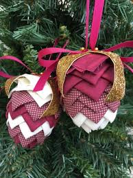 no sew ornament kits and patterns folded fabric ornaments