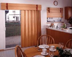 kitchen window treatment ideas for sliding glass doors in window