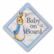 peter rabbit baby board car sign beatrix potter shop