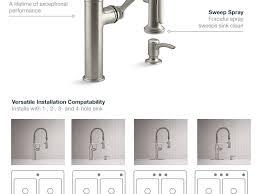 sink u0026 faucet stunning piece kitchen faucet kohler simplice