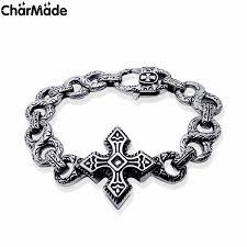 man bracelet cross images Vintage silver color gothic cross bracelet for men women top jpg