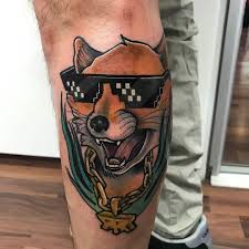 thug life fox tattoo by williamhustlerink at new empire tattoo in