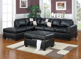 Black Livingroom Furniture Amazon Com Bobkona Hampshire Collection 3 Piece Sectional Sofa
