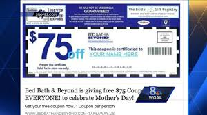 Bed Bath N Beyond Coupon 75 Bed Bath And Beyond Facebook Post Is A Coupon Scam