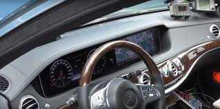 2018 mercedes s class facelift interior revealed in spy clip