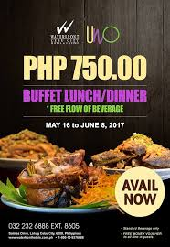 promo cuisines promo codes philippines php 750 buffet rate at uno