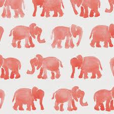 coral watercolor elephants duvet cover carousel designs