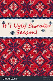 vector illustration sweater greeting stock vector