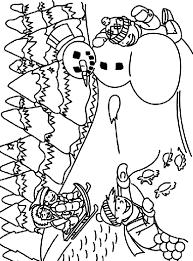 sledding in the snow coloring page crayola com