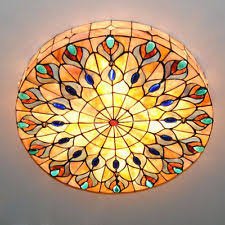 how to tea stain glass l shades stained glass flush mount fixtures ebay
