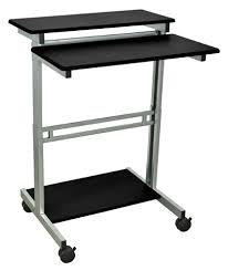 Stand Up Desk Office Depot Luxor 31 12 W Standup Desk Blackgray By Office Depot Officemax