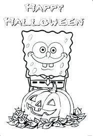 sponge bob halloween coloring pages