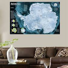 Wholesale Modern Home Decor Hd Print Antarctica Map For Office Decorations Wall Art Canvas