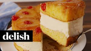 how to make pineapple upside down cheesecake recipe delish