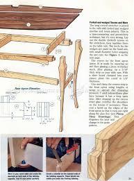 Hall Table Plans Graceful Hall Table Plans U2022 Woodarchivist