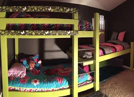 triple bunk beds with plans wooden initials bunk bed plans