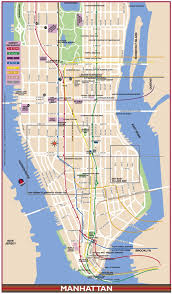 manhattan on map manhattan landmarks map major tourist attractions maps