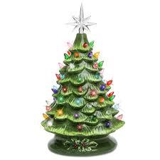 tiny tree ceramic lights ornaments gold