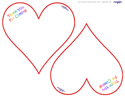 worded printable heart shaped thank you cards