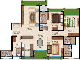 Serenity Floor Plan 1790 Sq Ft 3 Bhk Floor Plan Image Dheeraj Realty Serenity
