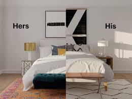 a marriage of styles creating a u0027his u0026 hers u0027 bedroom modsy blog