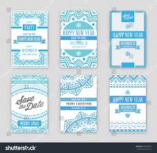 set vector happy new year merry stock vector 500338762