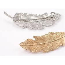 barrette hair 1pcs shiny leaf shape fashion metal clip barrette hair