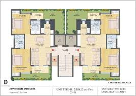 ground floor plan floor plans jaypee greens kassia sports city