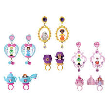 earrings styles disney sofia the ring and earring set choice of styles one