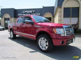 2010 vermillion red ford f150 platinum supercrew 4x4 50998658