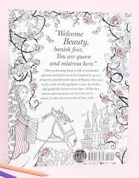 books beauty beast colouring book