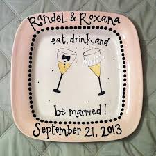 ceramic wedding plates wedding plate personalized and by somethingbluepottery