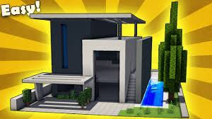Modern House Minecraft Minecraft How To Build A Large Modern House Tutorial Youtube