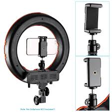 camera and lighting for youtube videos neewer 14 led ring light camera photo lighting kit for smartphone
