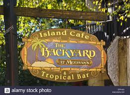 sign for the backyard at meehan u0027s island cafe u0026 tropical bar in