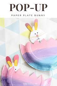 pop up paper plate bunny arty crafty kids