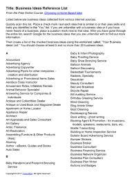 home based business ideas list u2013 small business ideas