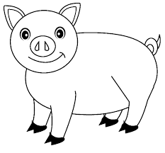 Pig Coloring Pages Free Printable For Kids Enjoy Coloring Pig Coloring Pages