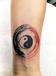 small yin yang on wrist creativefan